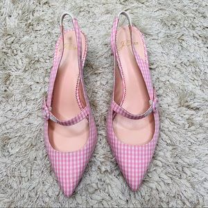 J Crew | Strappy Slingback d'Orsay Gingham Pumps